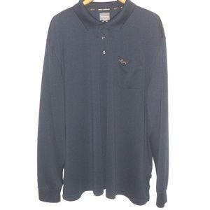 Greg Norman 2XLT Polo Shirt Long Sleeves Navy Blue
